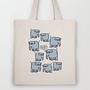 Elephant Cluster Tote Bag by Mirabilis