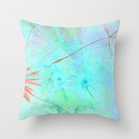 Paint A Dandelion Throw Pillow by Ally Coxon