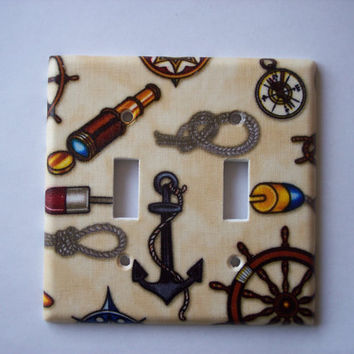 RESERVED Anchors Aweigh Double Toggle Switch Plate