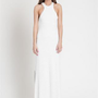 White Racerback Maxi Dress with Light Stripe