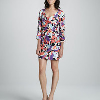 Catherine Malandrino Balloon-Print V-Neck Dress