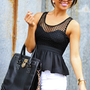 Sweetest Girl Babydoll Tank: Black | Hope's