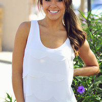 RESTOCK: Jumping Jacks Tank Top: White | Hope's