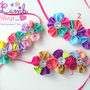 Rainbow Flower Kids Baby headband Hair band by littlelambshop