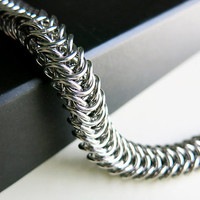 Men's Stainless Steel Bracelet - Men's Chainmaille Bracelet