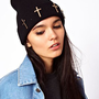 ASOS Metal Cross Beanie at asos.com
