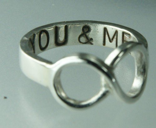 You & ME Infinity Symbol Ring Sterling Silver Infinity Ring | ExCognito - Jewelry on ArtFire