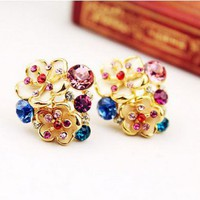 Colorful Flower and Pearl Earrings | LilyFair Jewelry
