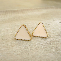 Triangle Stud Earrings [3968] - $9.00 : Vintage Inspired Clothing & Affordable Summer Frocks, deloom | Modern. Vintage. Crafted.