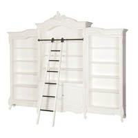 Classical White Triple Bookcase | Sweetpea and Willow