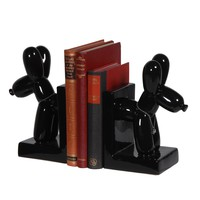 Balloon Dog Book Ends - Black - Home Accessories - Accessories