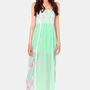 Best Lace Scenario Mint Green Lace Maxi Dress