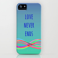 Love Never Ends (summer) iPhone & iPod Case by Shawn Terry King