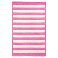 Capel Cottage Stripe Rug, Bright Pink