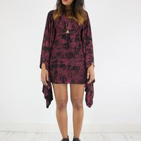 Brand New Handcrafted Tie Dye Batwing Cape Dress from House of Jam