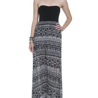 Knit Sweetheart Printed Maxi Dress | Shop Dresses at Wet Seal