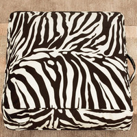 Sure-Fit Velvet Zebra Floor Pillow