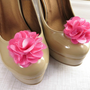 Flower Shoe Clips, Hot Pink Clips for Shoes, Shoe Accessories by Flower Couture