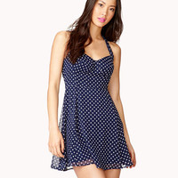 Polka Dot Halter Dress | FOREVER 21 - 2042033772