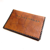 Boho Brown Tooled Leather Wallet