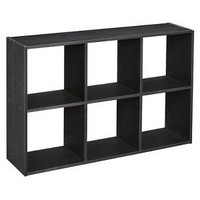 ClosetMaid 6-Cube Mini Cubeicals - Black Ash