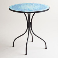 Turquoise Cadiz Mosaic Bistro Table | World Market