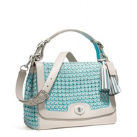 Coach :: Legacy Caning Leather Romy Top Handle