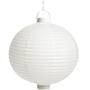 White Battery-Powered Paper Lantern