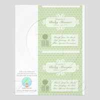 Baby Shower Custom Candy Bar Wrappers Green from Zazzle.com