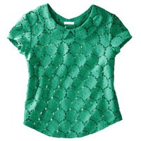 Xhilaration® Juniors Peter Pan Collar Lace Top - Assorted Colors