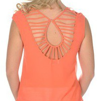 Interwebs Top in Coral - New Arrivals