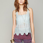 Free People Textured Flower Crop Cami