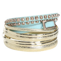 Wrapped Stud Bangle Set | Shop Jewelry at Wet Seal