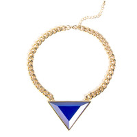 Triangle Stone Chain Necklace - 2020AVE
