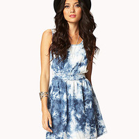 Cutout Tie-Dye Chambray Dress | FOREVER21 - 2027706303
