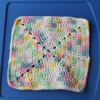 Pretty Pastels Crocheted Dishcloth