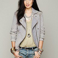 Free People  Slouched and Quilted Motorcycle Jacket at Free People Clothing Boutique