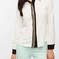 Sister Jane Chain Placket Blouse