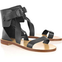 Chlo|Multi-strap leather sandals|NET-A-PORTER.COM
