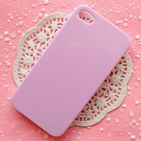 iPhone Case iPhone 4 Case iPhone 4S Case DIY Cell Phone Light Purple