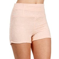 SALE-Blush High Waist Lace Shorts