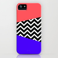 Infra Red Laser Blue Chevron iPhone iPhone & iPod Case by RexLambo