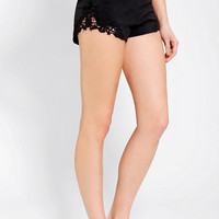 Urban Outfitters - Pins And Needles Knit Lace Peek-A-Boo Short