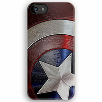 Captain America Shield at frozen steel apple iphone 5, iphone 4 4s, iPhone 3Gs, iPod Touch 4g case by Pointsalestore .com