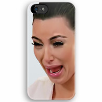 Kim Kardashian Funny Cute Ugly Crying Face Photograph apple iphone 5, iphone 4 4s, iPhone 3Gs, iPod Touch 4g case by Pointsalestore .com