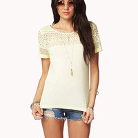 Essential Lace Trimmed Tee