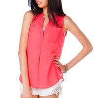 Livingston Chiffon Tank