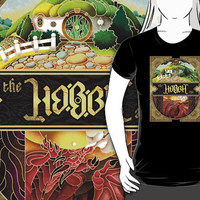 Classic Vintage The Hobbit typograph T-Shirt man and woman by Pointsalestore .com