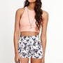 Kirra High Rise Tonal Floral Shorts at PacSun.com