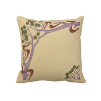 Art Nouveau Sofa Pillow from Zazzle.com